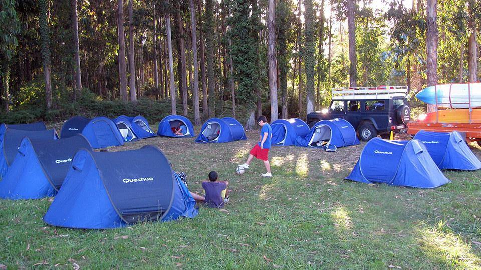 Veladas y acampadas en Viveiro