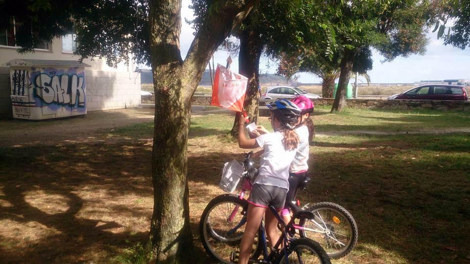 Ginkana en bici viveiro